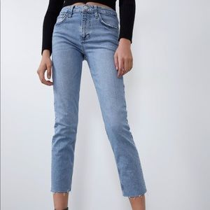Slim Fit High Rise Jeans Zara Fall 2019 Sz 0